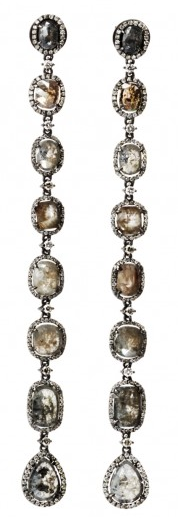Ebba Brahe Jewellery Princess sliced diamonds earrings