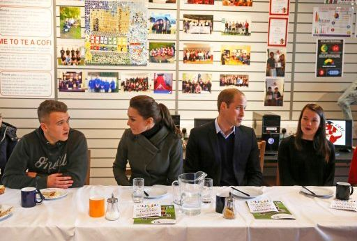 Kate and William meet young people at GISDA in North Wales