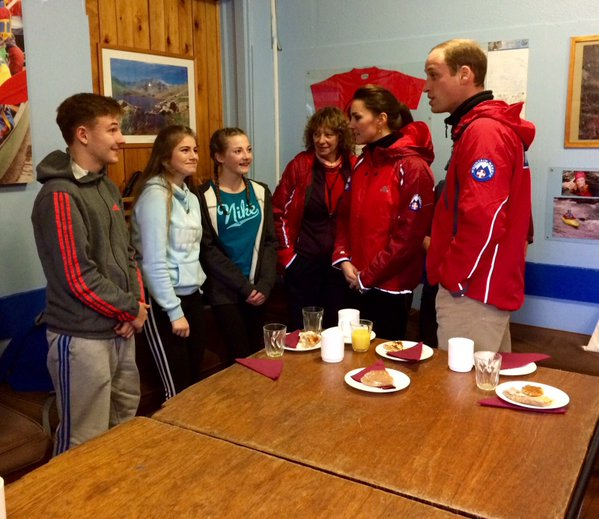 Kate and William meet young people at Mountain Rescue UK in North Wales