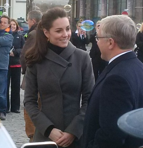 Kate arrives in North Wales
