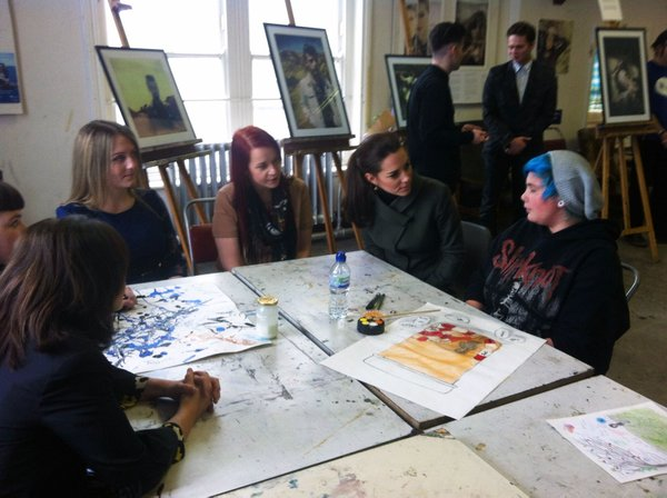 Kate meets young artists at Mind photography exhibit in North Wales