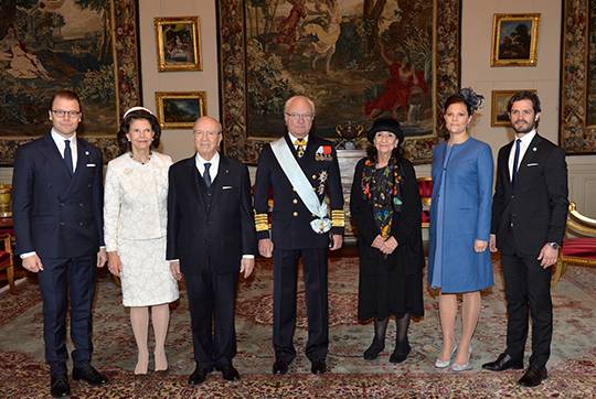 King, Queen, Victoria, Daniel, Carl Philip, President of Tunisia State Visit