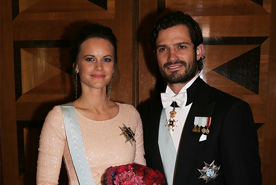 Prince Carl Philip and Princess Sofia engineering sciences formal gathering