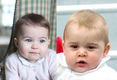Princess Charlotte v Prince George face