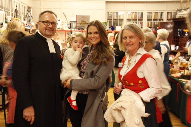 Princess Madeleine and Princess Leonore at Swedish Church