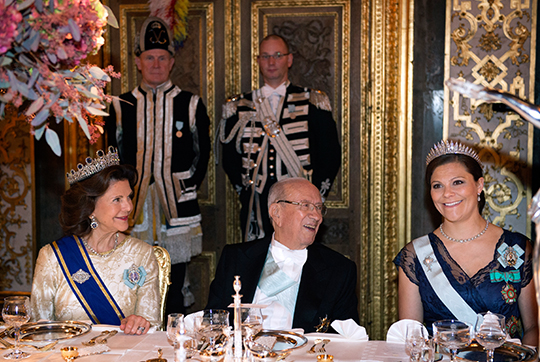 Queen Silvia, Crown Princess Victoria State Banquet