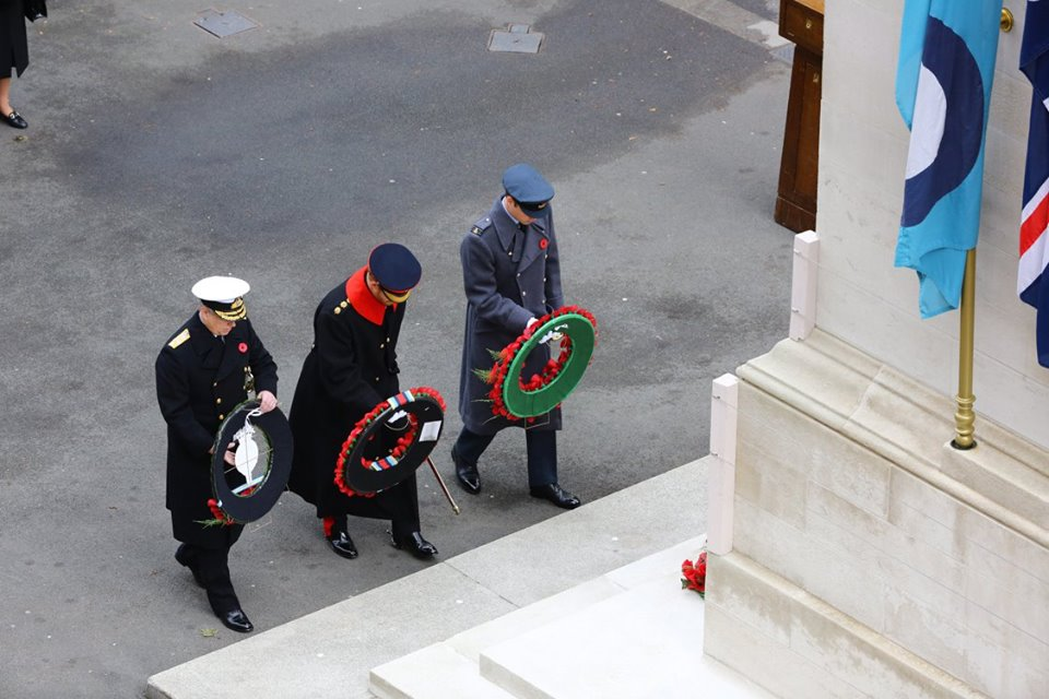 William, Harry, and Andrew lay wreaths