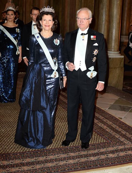 Carl Gustaf and Silvia Nobel Laureates Dinner 2015