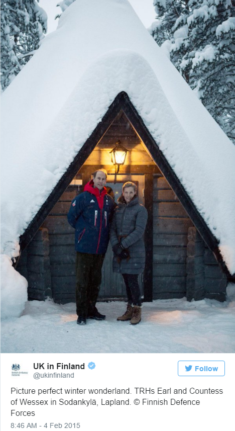 Edward and Sophie Finland Feb 2015