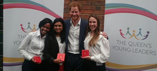 Harry with SA Queen's Young Leaders