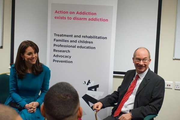 Kate attends action on addiction discussion