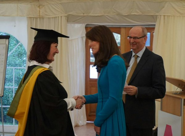 Kate attends action on addiction graduation ceremony