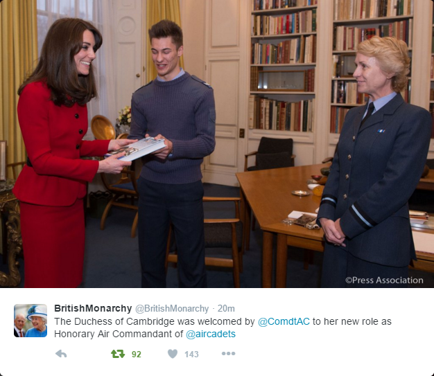 Kate becomes patron of air cadets 2