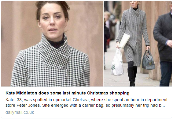 Kate shopping Dec 15