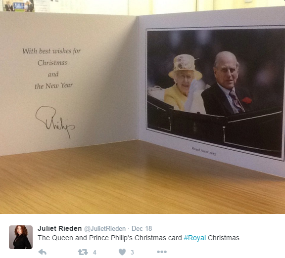 Queen and Philip Christmas 2015