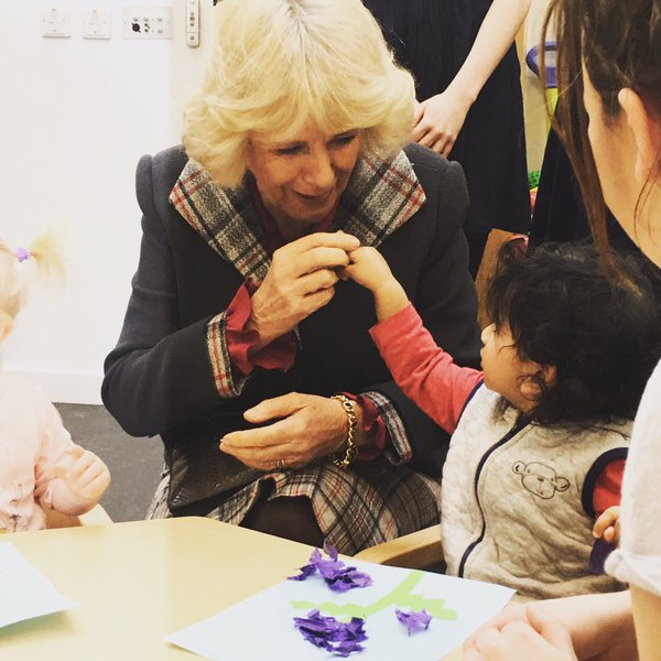 Camilla opens Rocking Horse Nursery 1