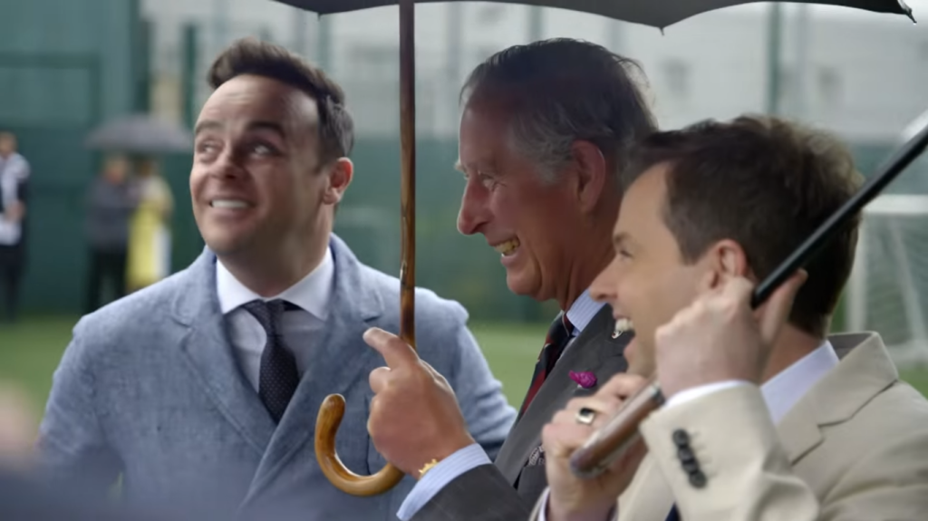 Charles with Ant and Dec