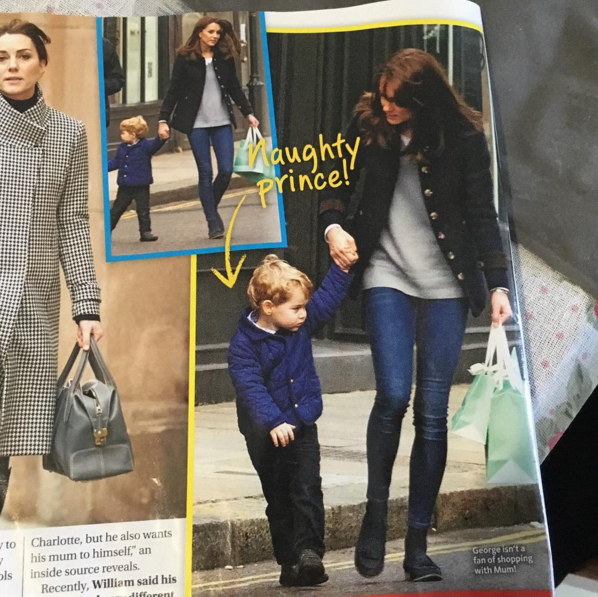 Kate and George shopping Women's Day mag Jan 2016