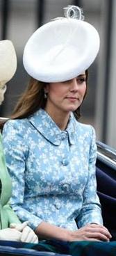 Kate in Catherine Walker for Trooping