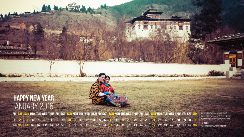 King and Queen of Bhutan January 2016