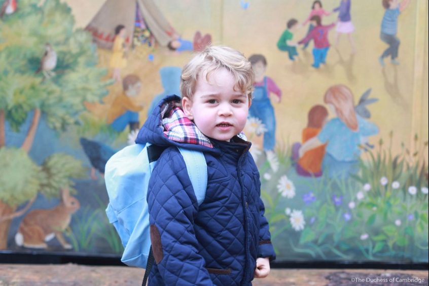 Prince George starts nursery school 1