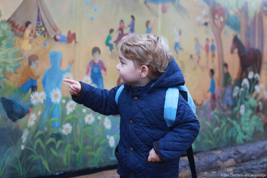 Prince George starts nursery school 2