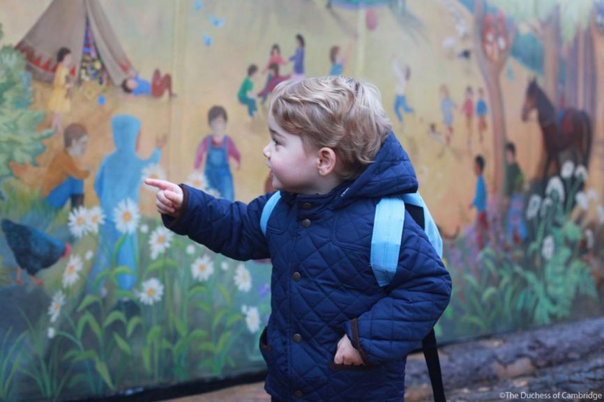 Prince George starts nursery school 2