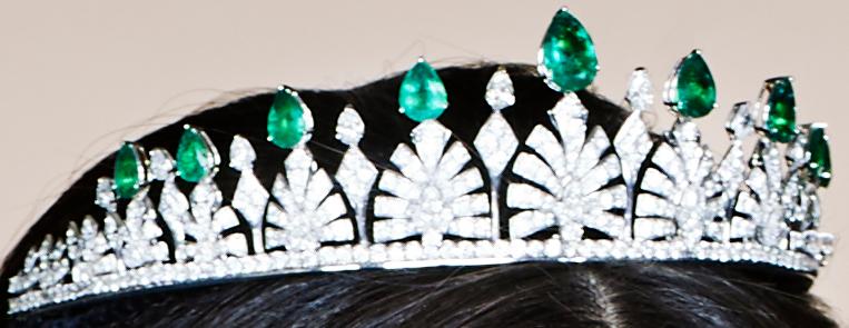 Princess Sofia's emerald and diamond wedding tiara
