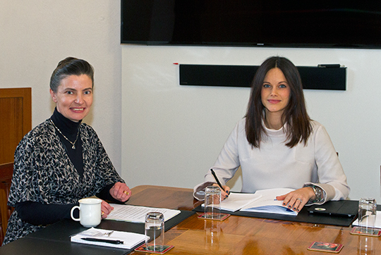 Sofia meeting with Sophiahemmet director