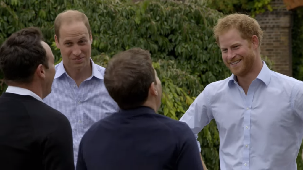 William and Harry with Ant and Dec