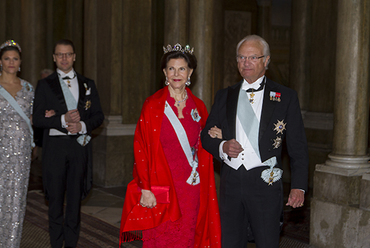 Carl Gustaf and Silvia Official Dinner Feb 2016