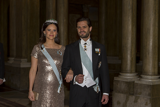 Carl Philip and Sofia Official Dinner Feb 2016