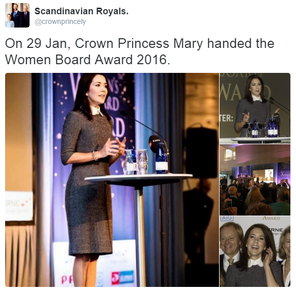 Crown Princess Mary Women Board Awards