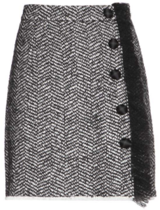 Dolce & Gabbana Boucle Wool Blend Skirt