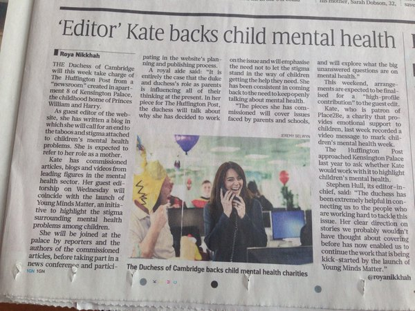 Kate Sunday Times article