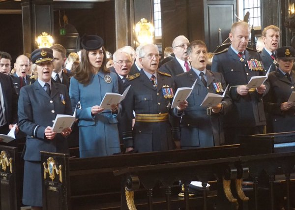 Kate attending church service for Air Cadets