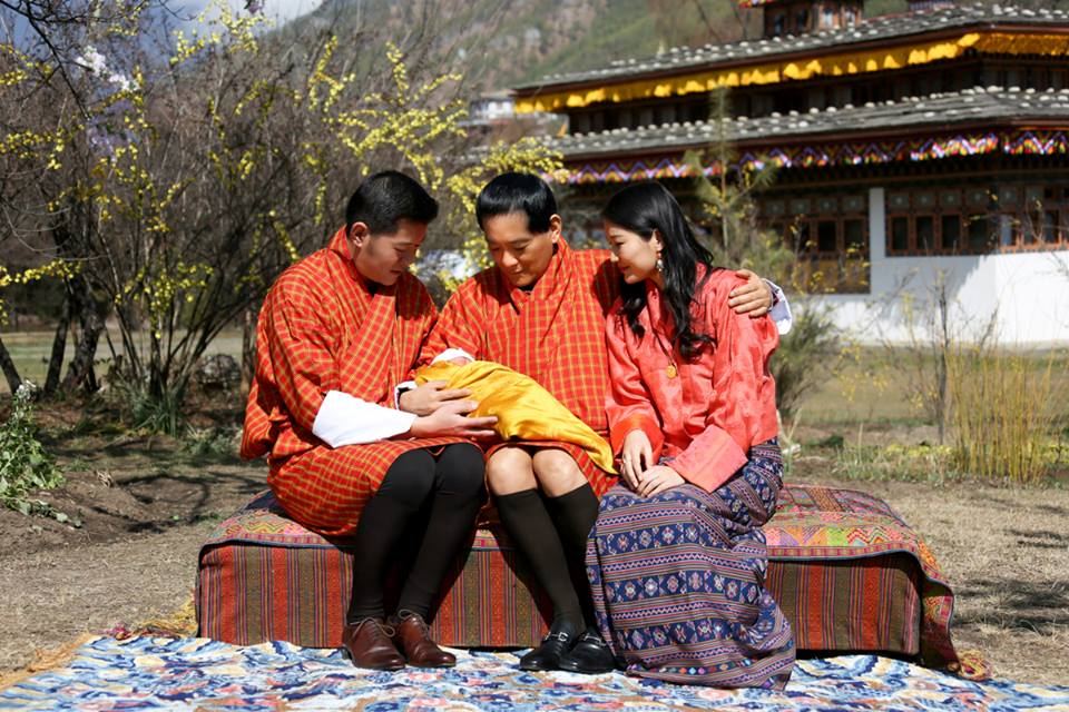 King and Queen of Bhutan first baby photo