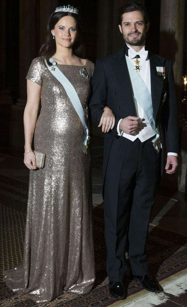 Prince Carl Philip and Princess Sofia Official Dinner Feb 2016