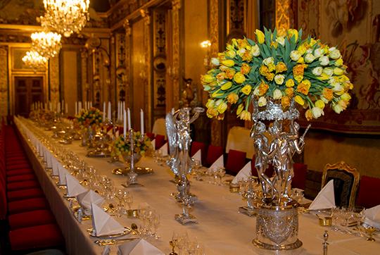 Table setting Official Dinner Feb 2016