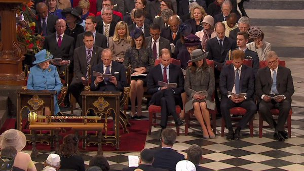British royals at Commonwealth Service