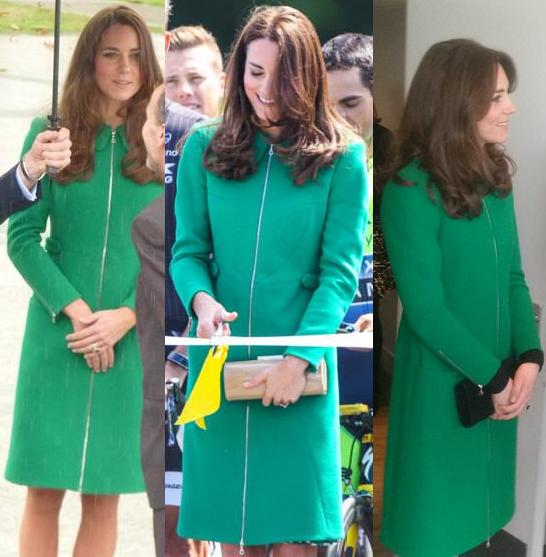 Erdem Allie green coat
