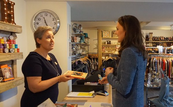Kate buying stuff EACH charity shop