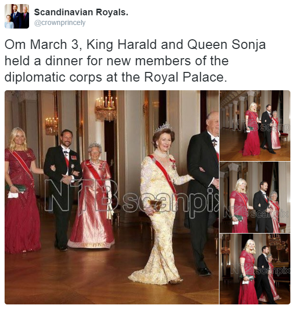 Norway royal family diplomatic corps