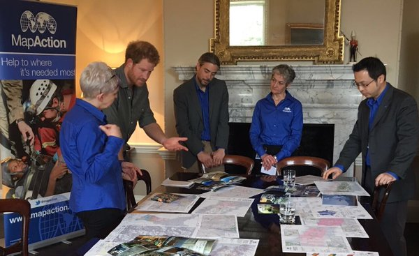 Prince Harry MapAction meeting