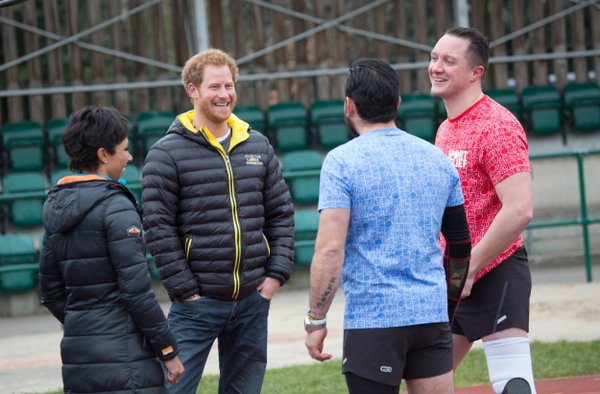 Prince Harry Sport Relief session