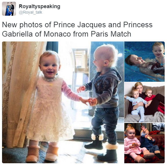 Prince Jacques and Princess Gabriella Paris Match