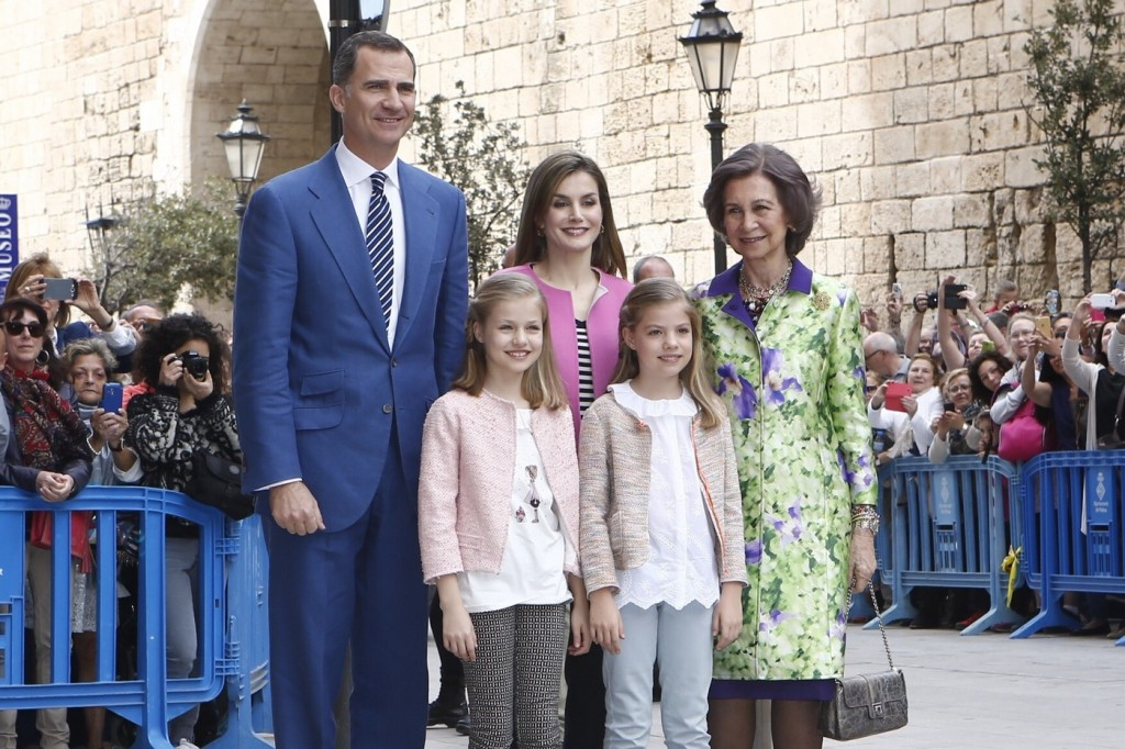 Spanish royals Easter 1