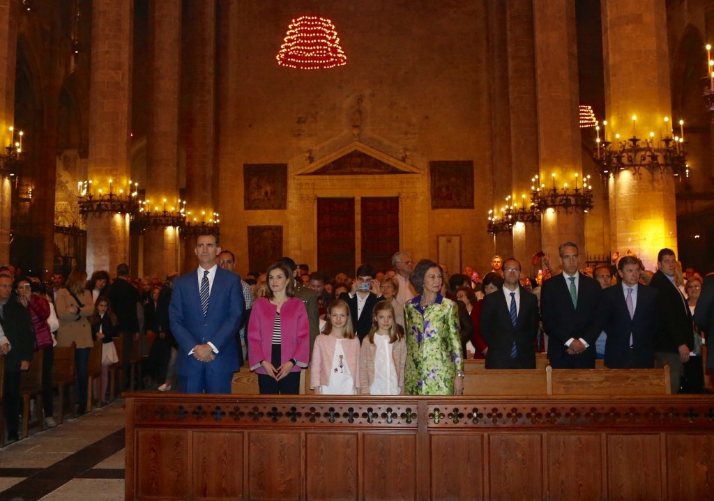 Spanish royals Easter 2