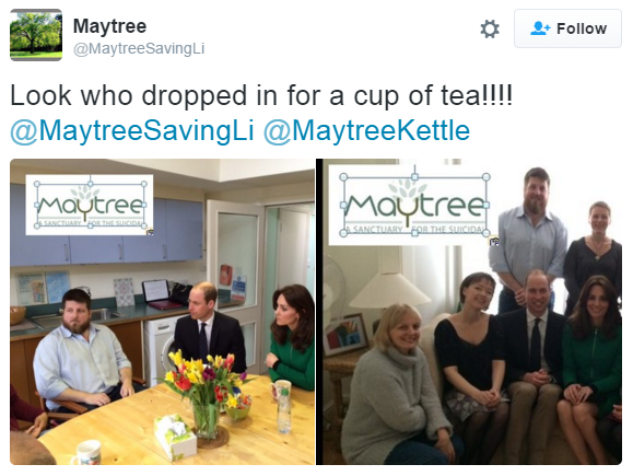 William and Kate Maytree visit