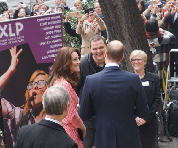 William and Kate arrive at XLP 1
